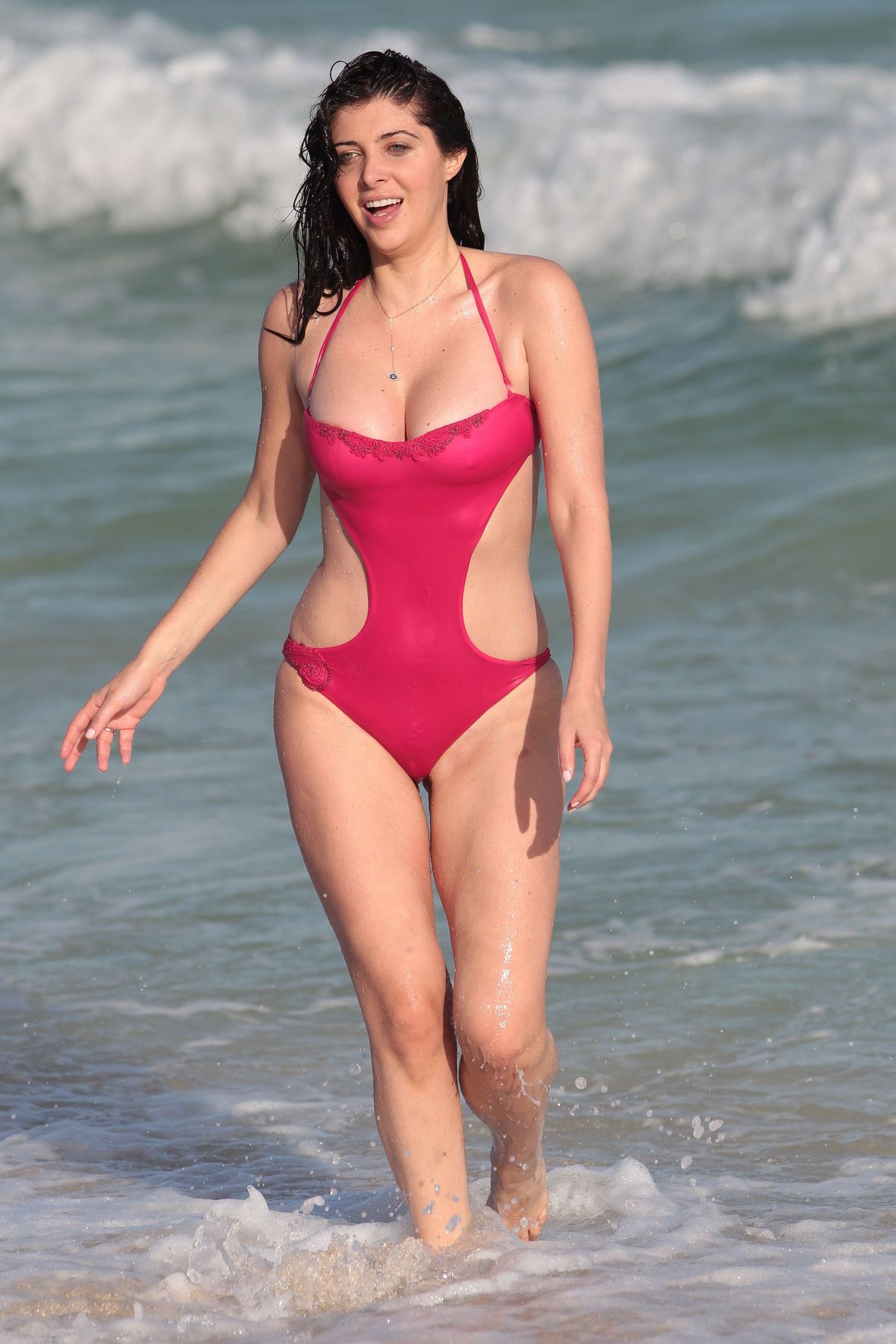 BRITTNY GASTINEAU in Swimsuit at a Beach in Miami 12/28/2015