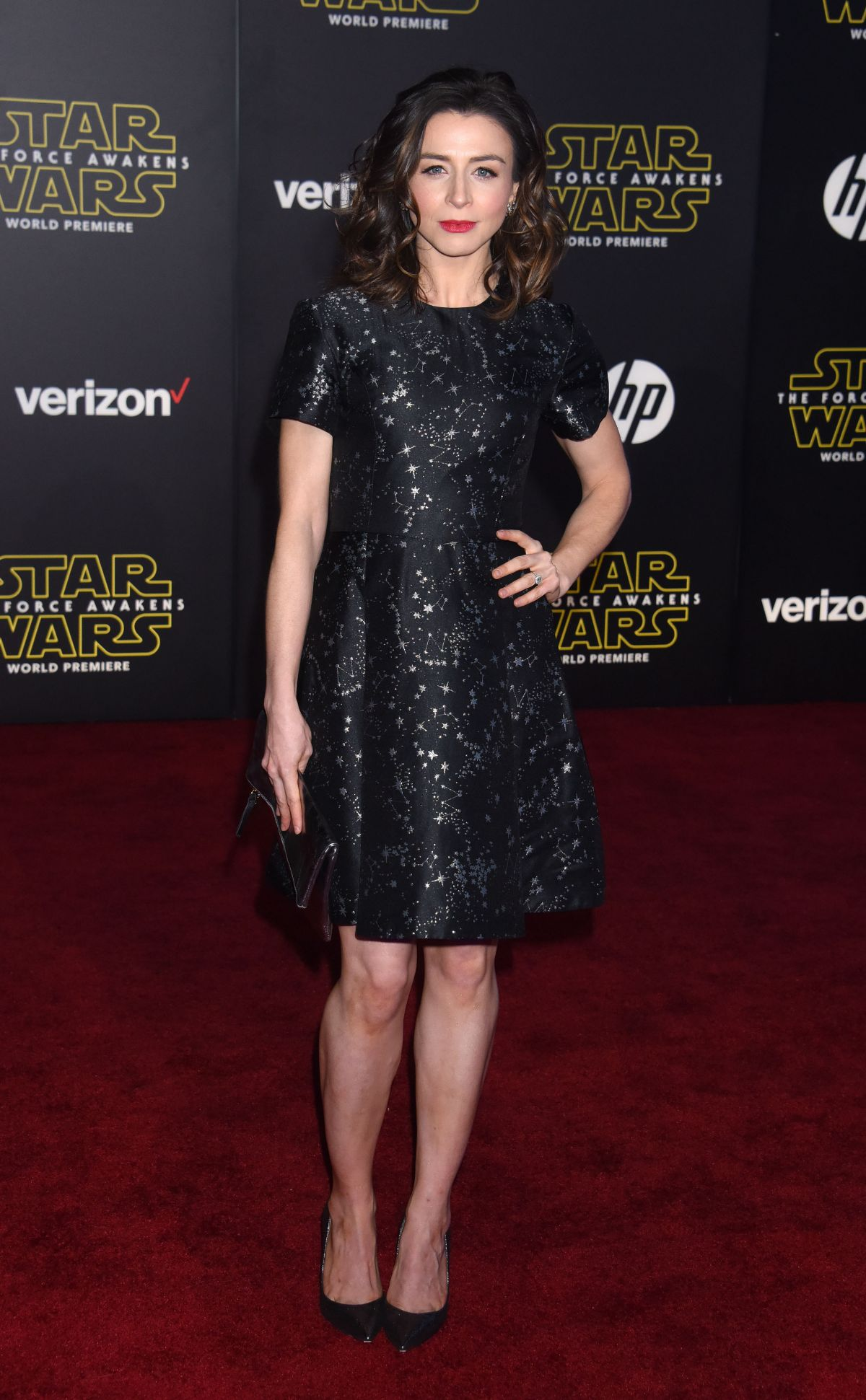 CATERINA SCORSONE at Star Wars: Episode VII – The Force Awakens Premiere in Hollywood 12/14/2015
