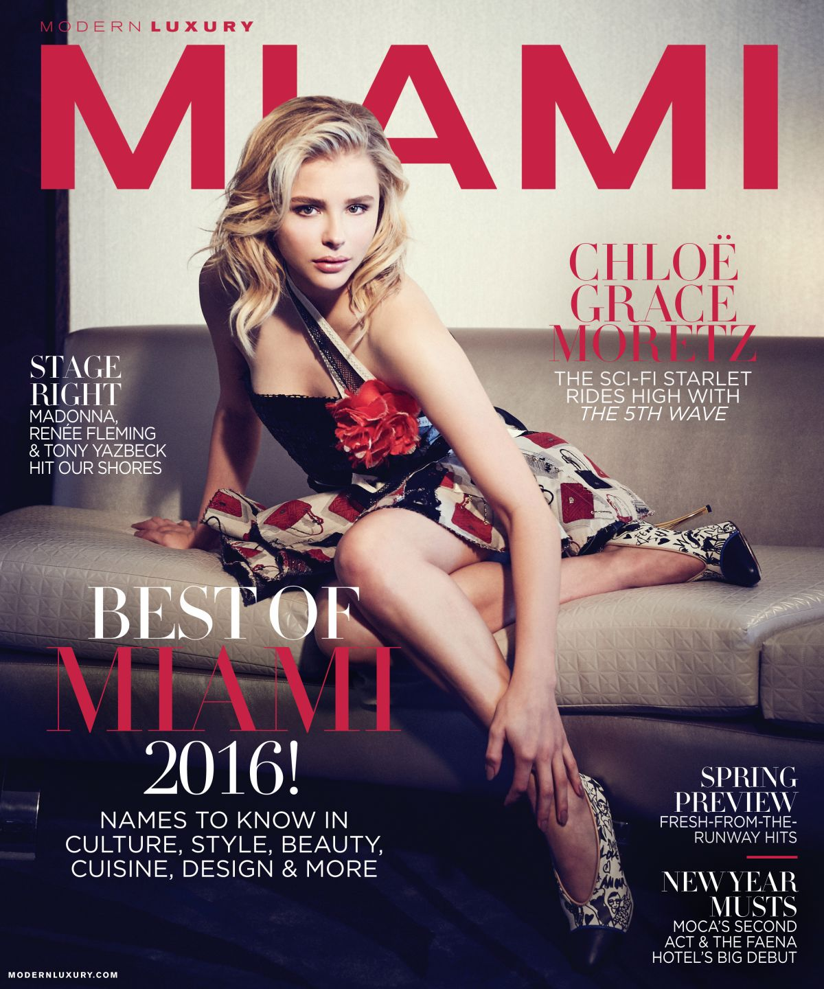 CHLOE MORETZ on the Cover of Modern Luxury Magazine, January/February 2016 Issue