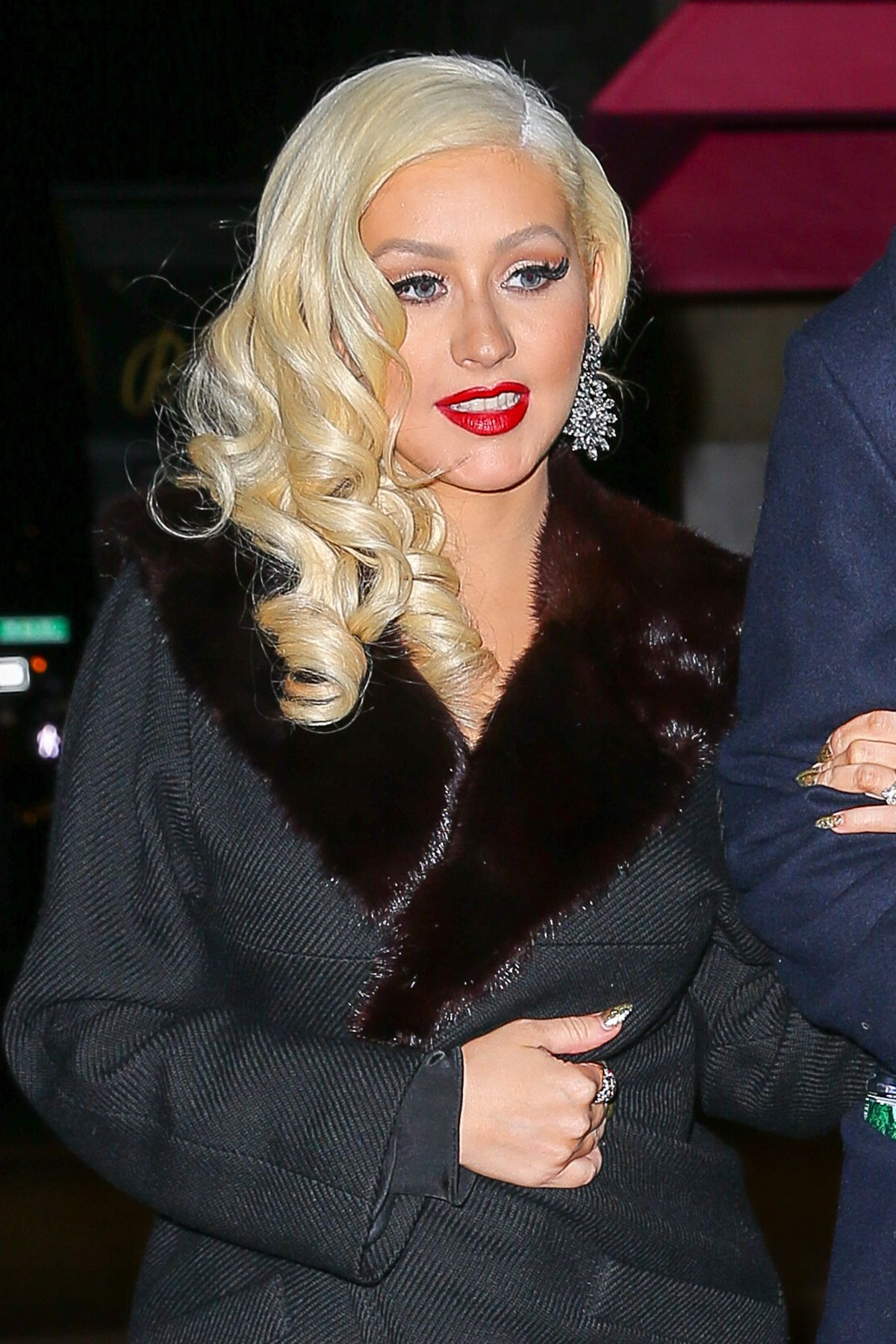 CHRISTINA AGUILERA Arrives at Rosa Mexicano Restaurant in New York 12/03/2015