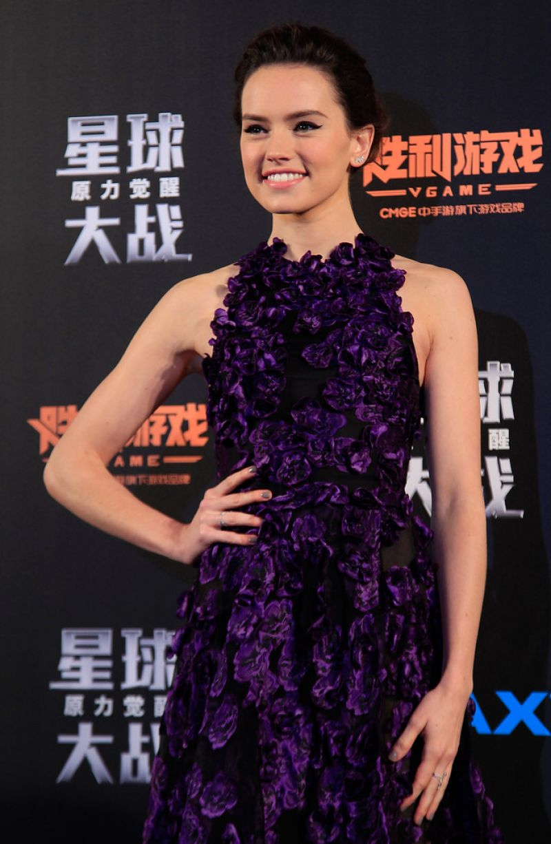 DAISY RIDLEY at Star Wars: The Force Awakens Fan Event in Shangahai 12/27/2015