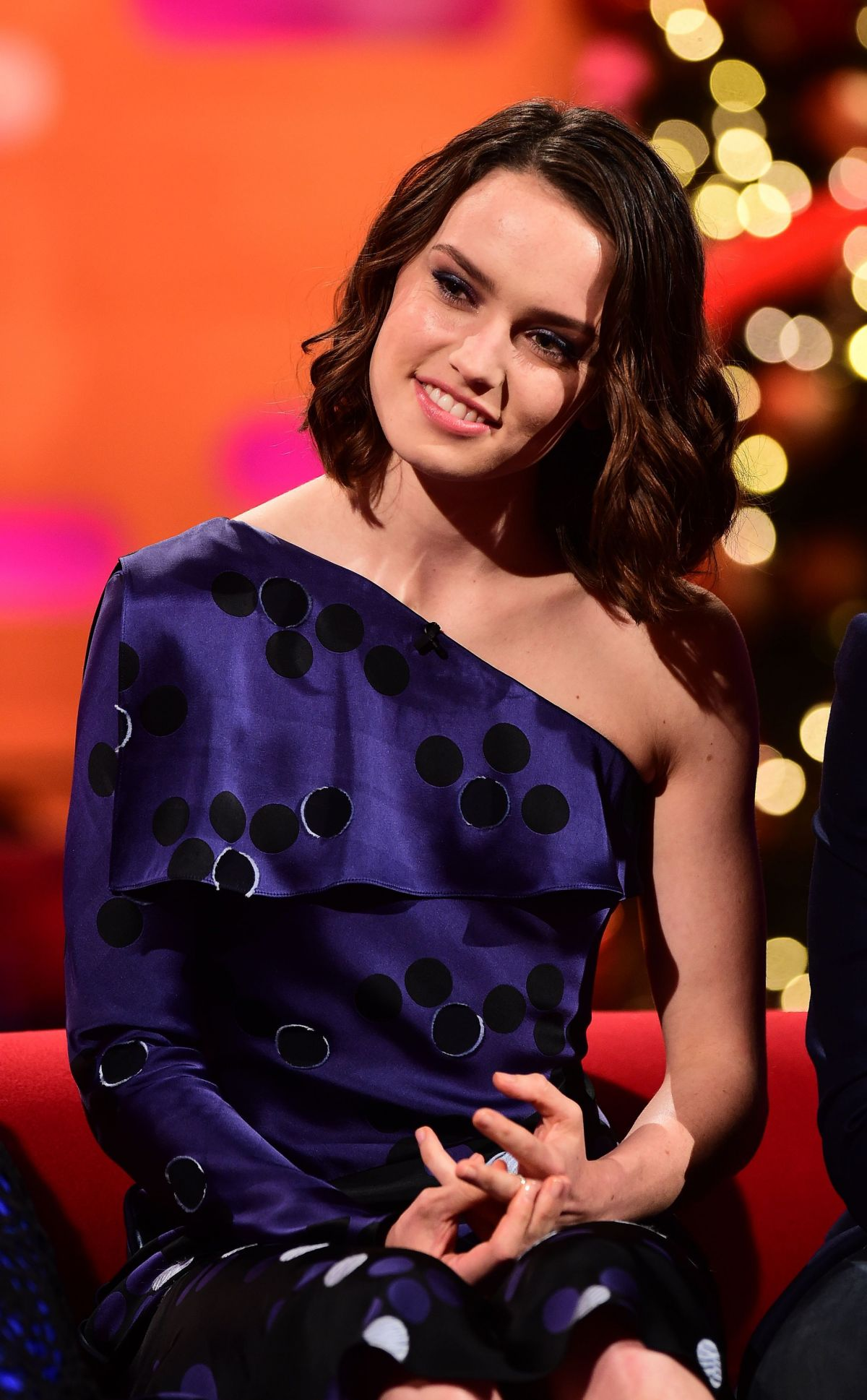DAISY RIDLEY at The Graham Norton Show in London 12/17/2015