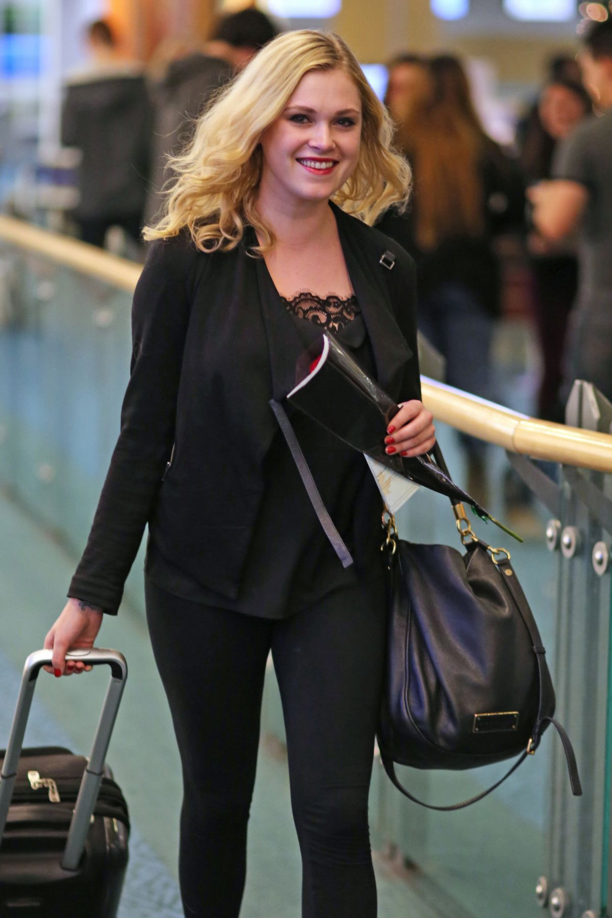 EIZA TAYLOR Arrives at Airport in Vancouver 12/18/2015