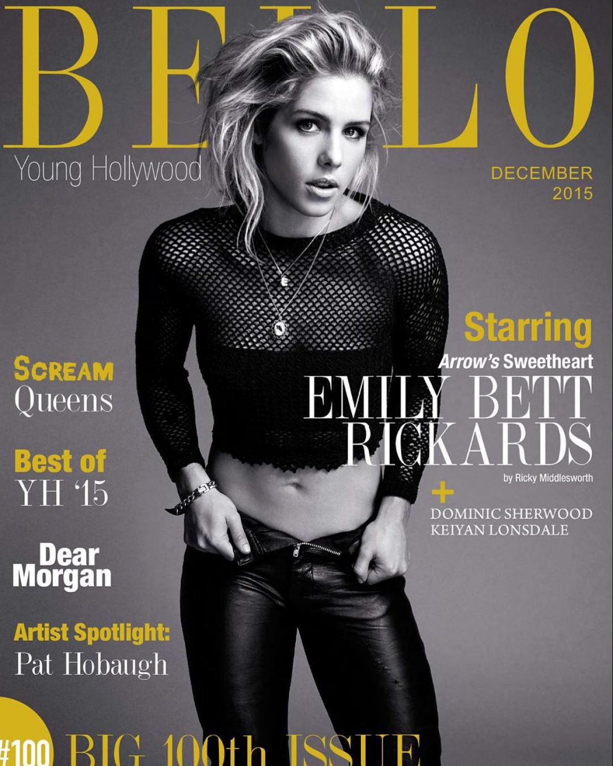 EMILY BETT RICKARDSin Bello Magazine, December 2015 Issue