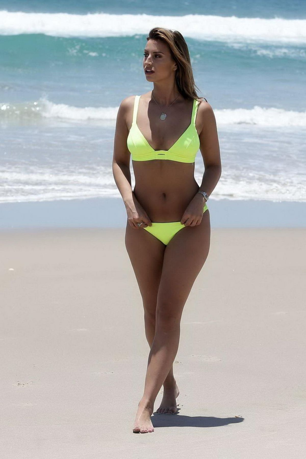 FERNE MCCANN in Bikini at a Beach on Gold Coast 12/22/2015