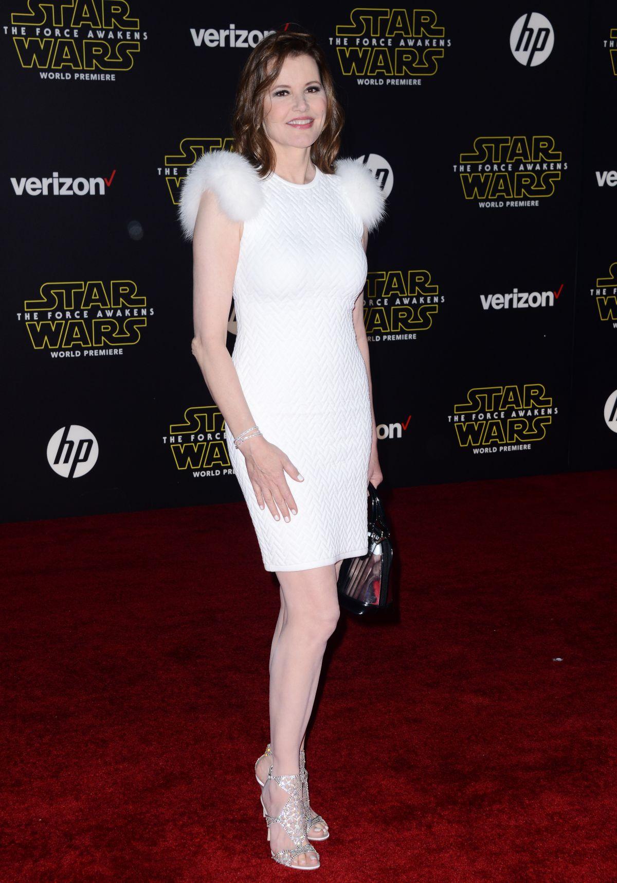 GEENA DAVIS at Star Wars: Episode VII – The Force Awakens Premiere in Hollywood 12/14/2015