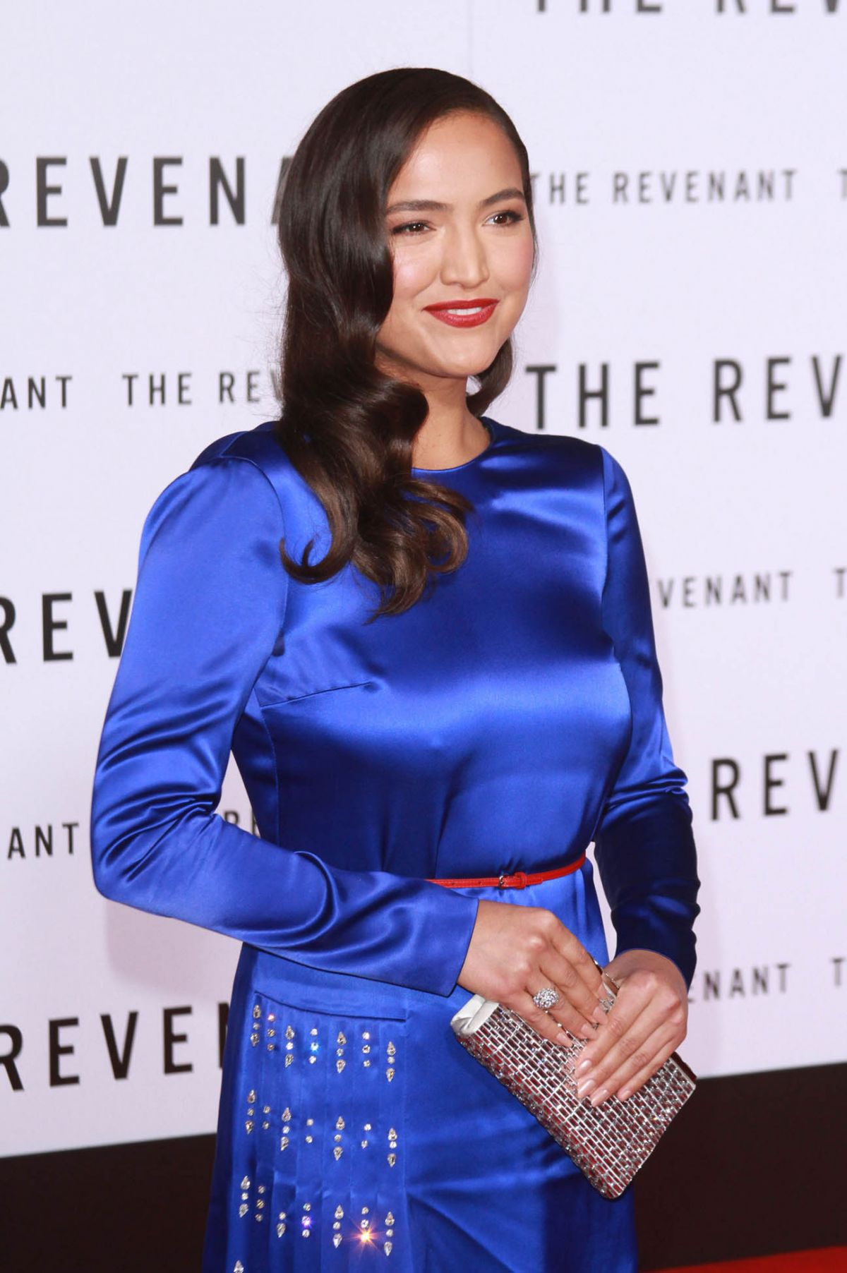 GRACE DOVE at The Revenant Premiere in Hollywood 12/16/2015