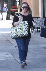 HAYLIE DUFF Out Shopping in West Hollywood 12/23/2015