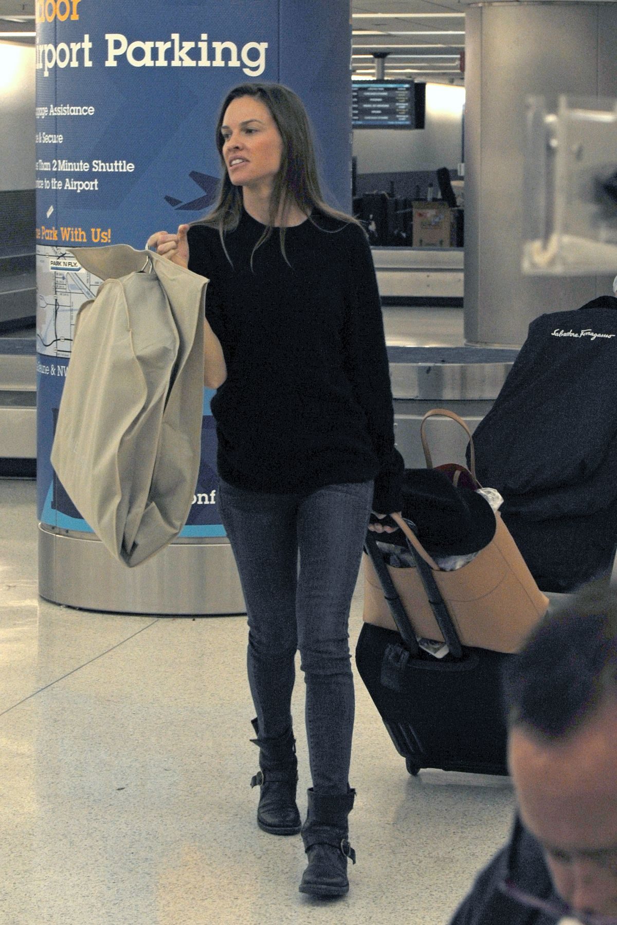 HILARY SWANK at Miami Airport 12/01/2015