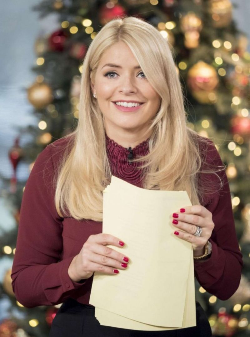 HOLLY WILLOUGHBY on the Set of This Morning TV Show in London