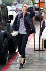 JAMIE CHUNG Leaves Spin Class in Los Angeles 12/22/2015