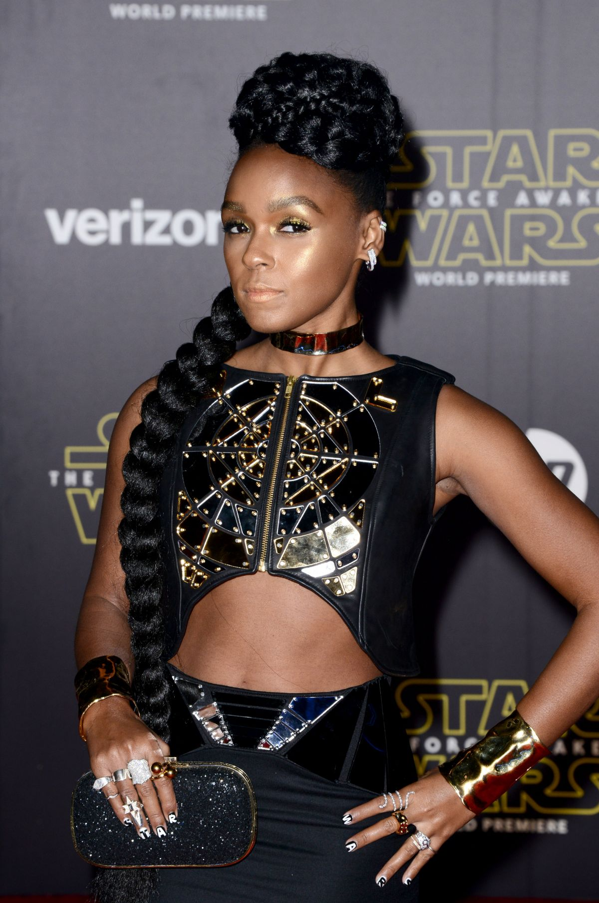 JANELLE MONAE at Star Wars: Episode VII – The Force Awakens Premiere in Hollywood 12/14/2015