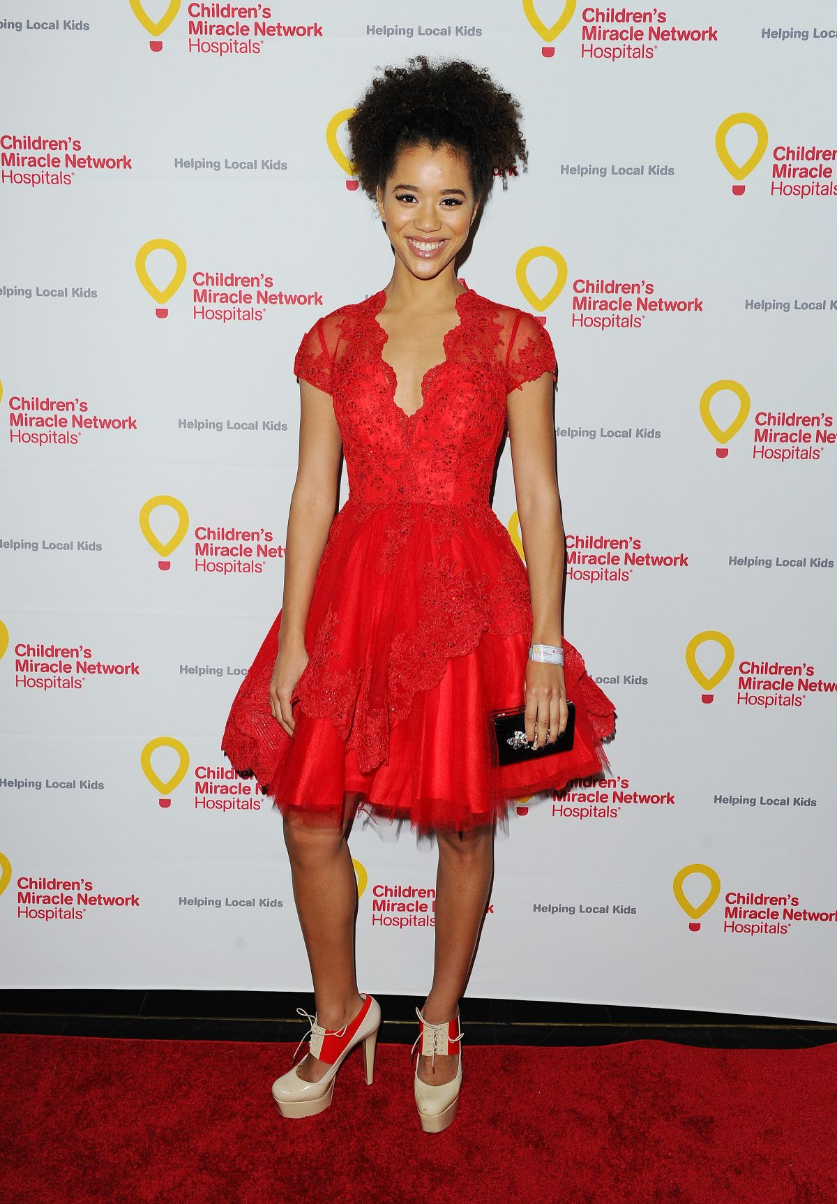 JASMIN SAVOY at Children's Miracle Network Hospital's Winter Wonterland Ball in Hollywood 12/12/2015