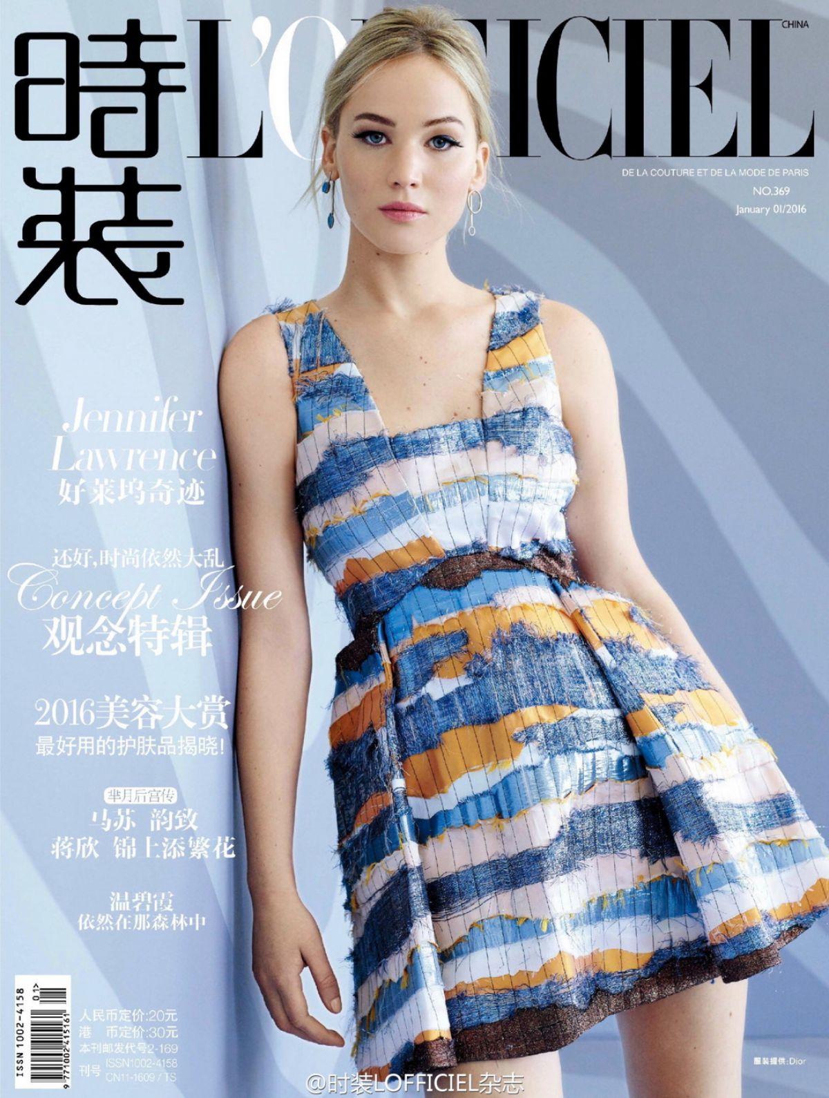jennifer lawrence in l officiel magazine china january 2016 issue hawtcelebs. Black Bedroom Furniture Sets. Home Design Ideas