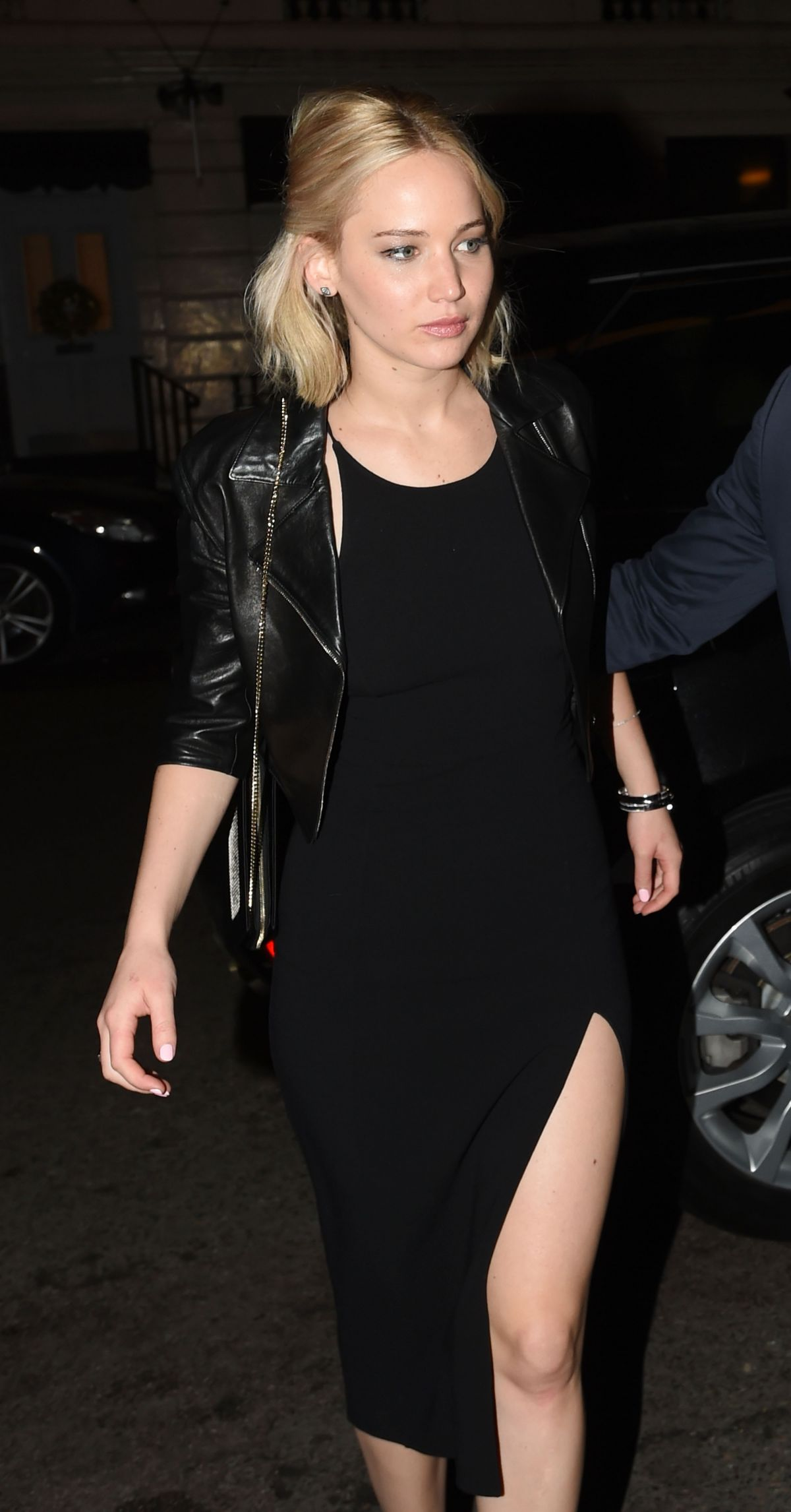 JENNIFER LAWRENCE Leaves Chiltern Firehouse in London 12/17/2015