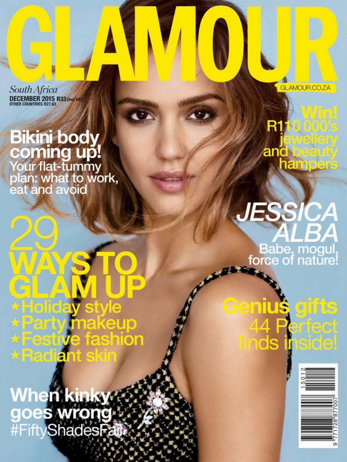 JESSICA ALBA In Glamour Magazine, South Africa December