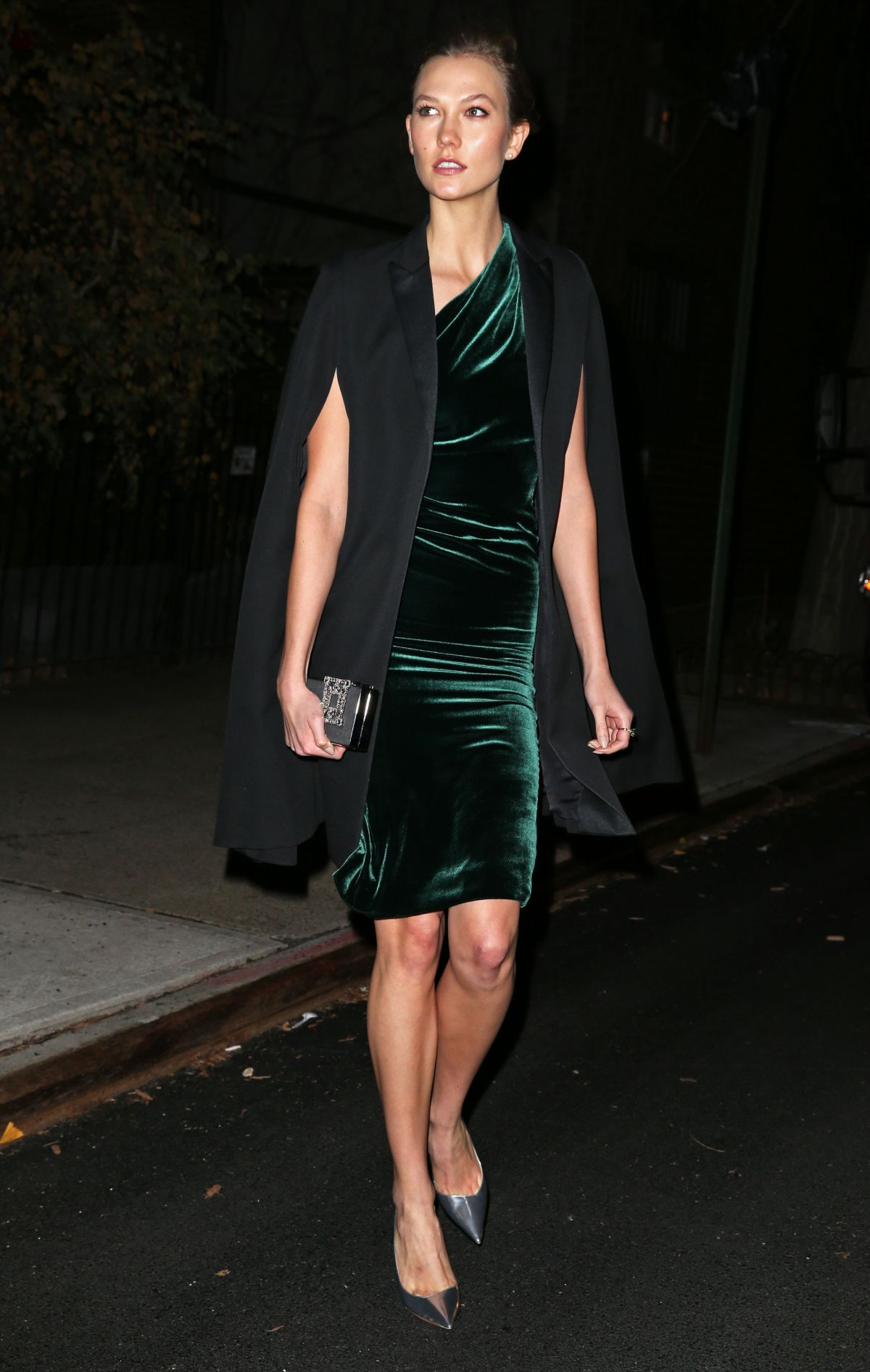 KARLIE KLOSS Heading to a Party in New York 12/11/2015