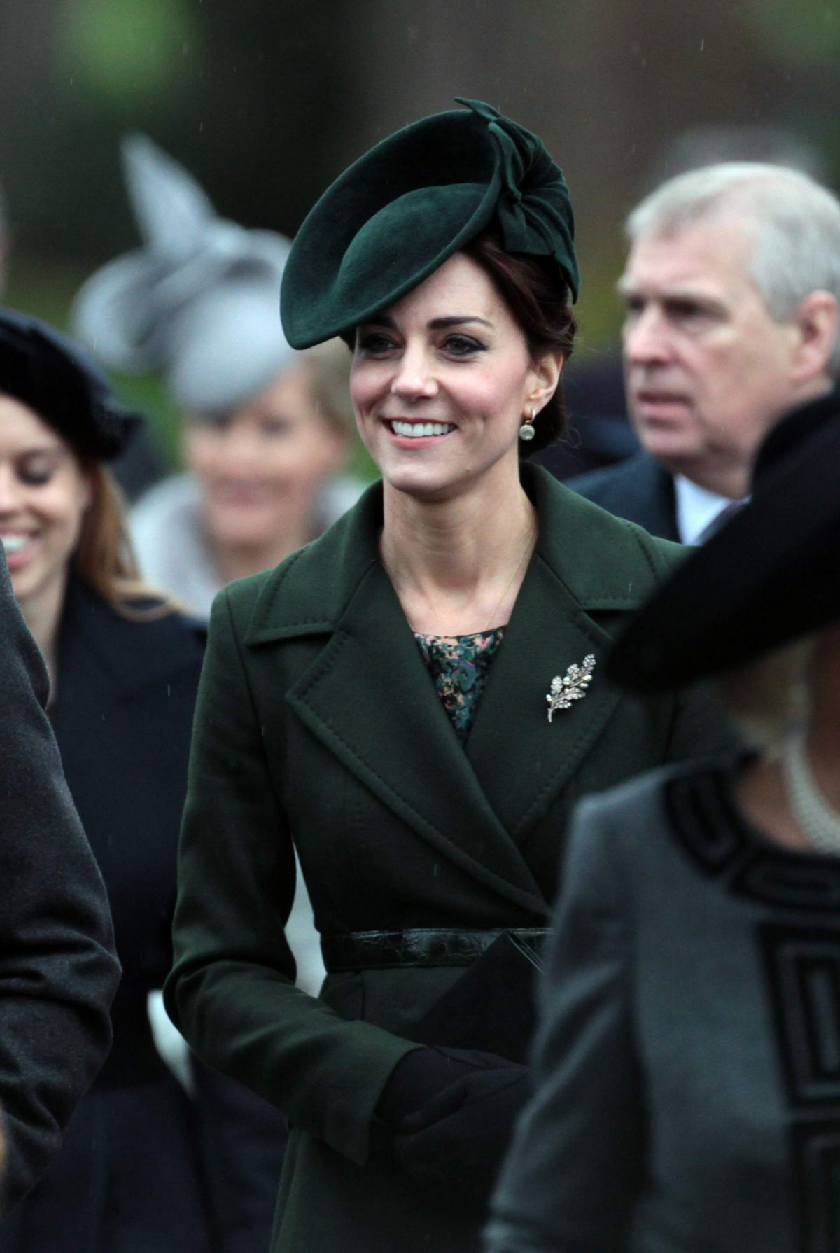 KATE MIDDLETON at Christmas Day Service at St. Mary Magdalene Church 12/25/2015