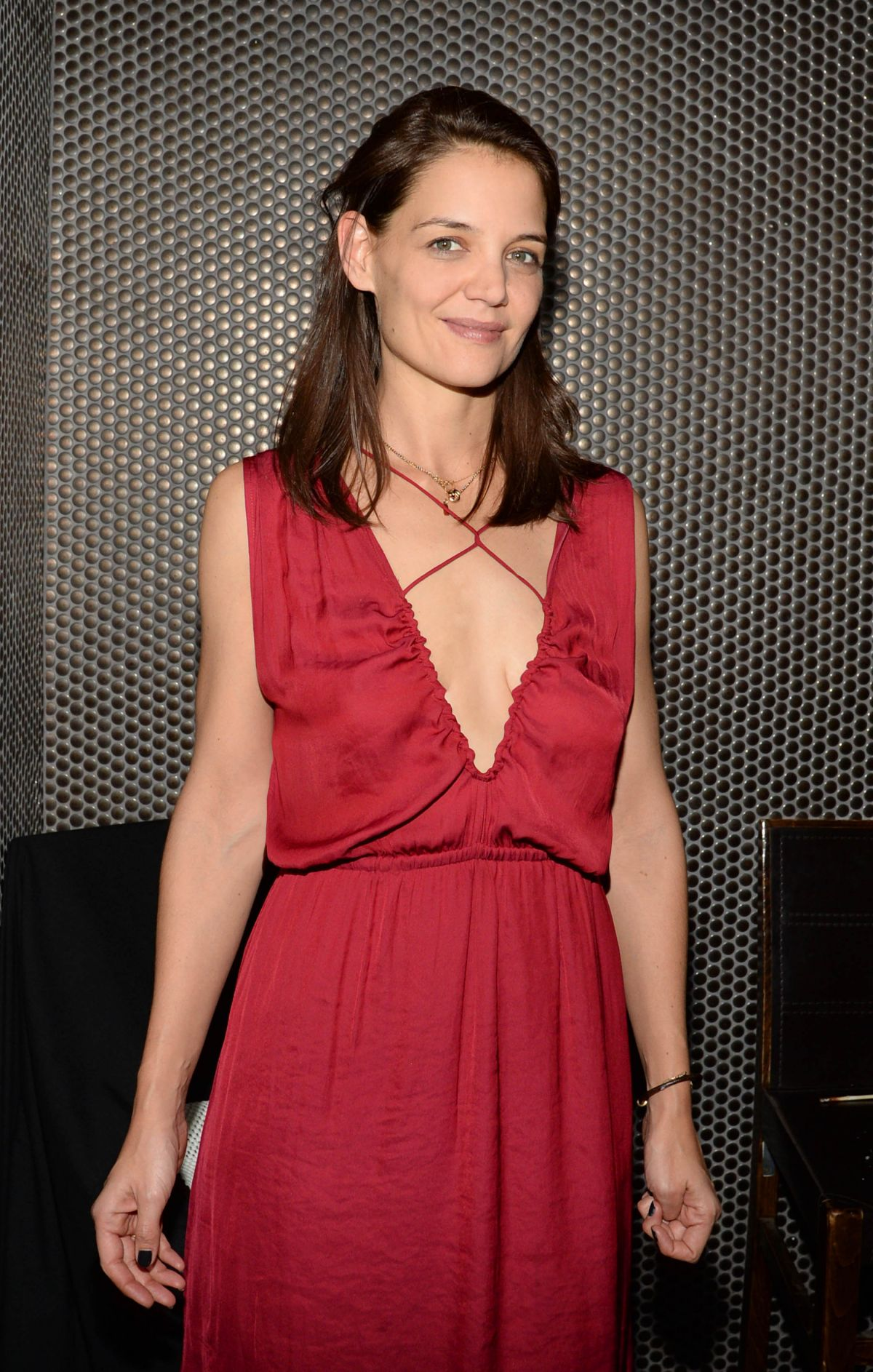 KATIE HOLMES at Beauty & Essex in New Yor 12/16/2015