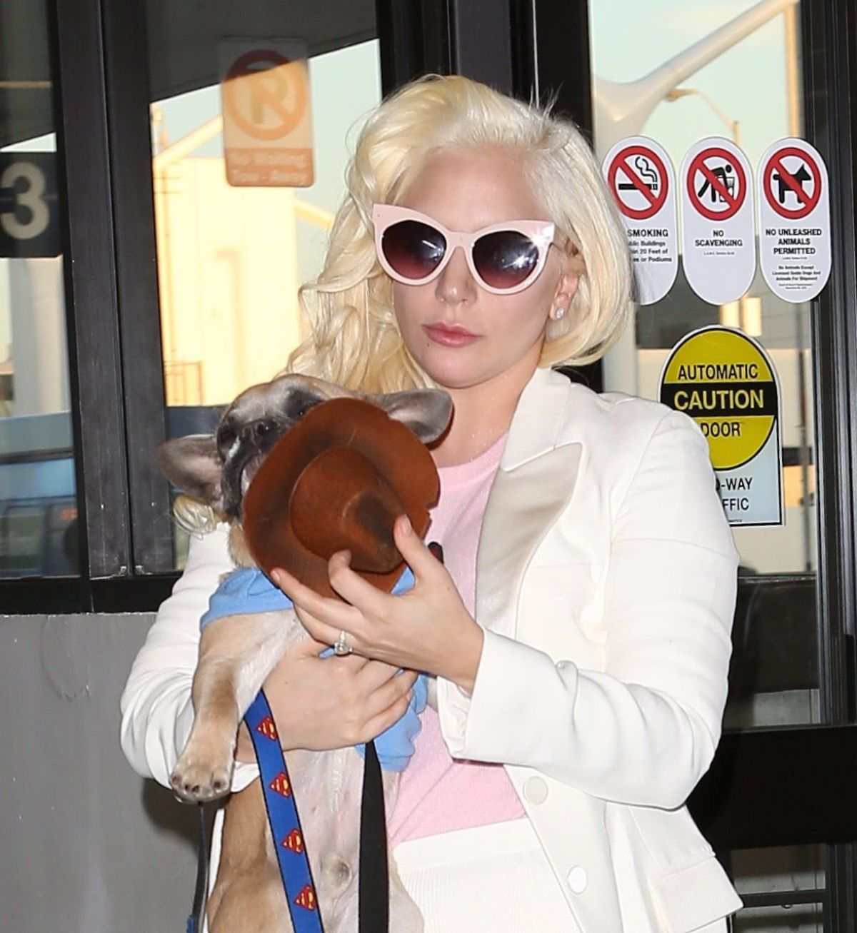 LADY GAGA Arrives at LAX Airport in Los Angeles 12/24/2015