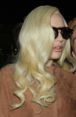 LADY GAGA Leaves Her Hotel in New York 12/10/2015