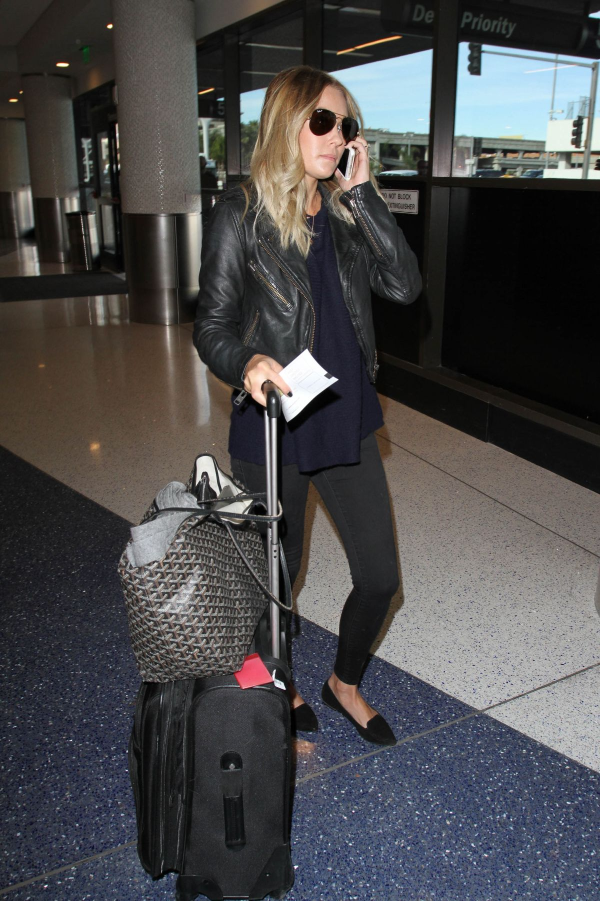 LAUREN CONRAD at Los Angeles International Airport 12/07/2015