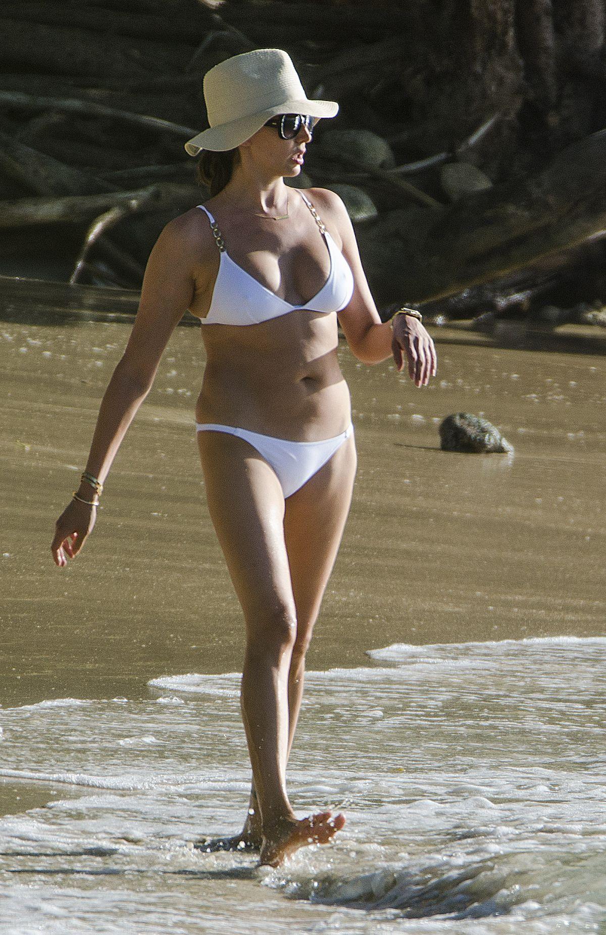 LAUREN SILVERMAN in Bikini on the Beach in Barbados 12/28/2015