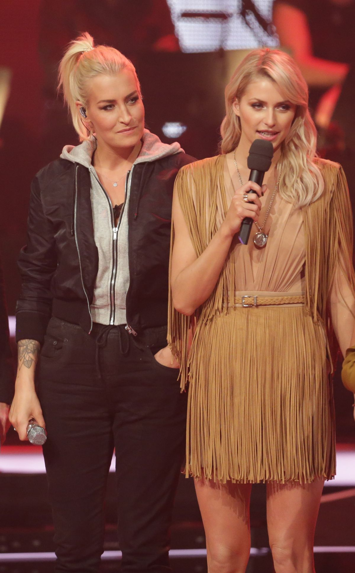 LENA GERCKE and SARAH CONNOR at The Voice of Germany, First Live-show Finals in Berlin