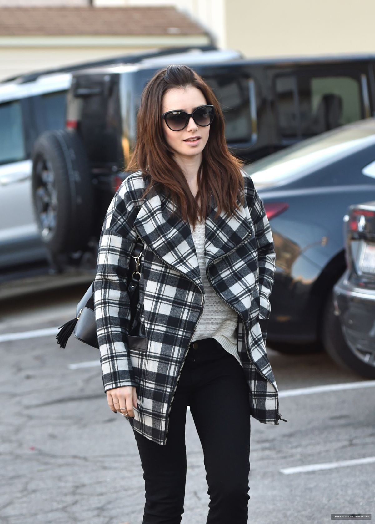 Lily Collins Street Style 2015