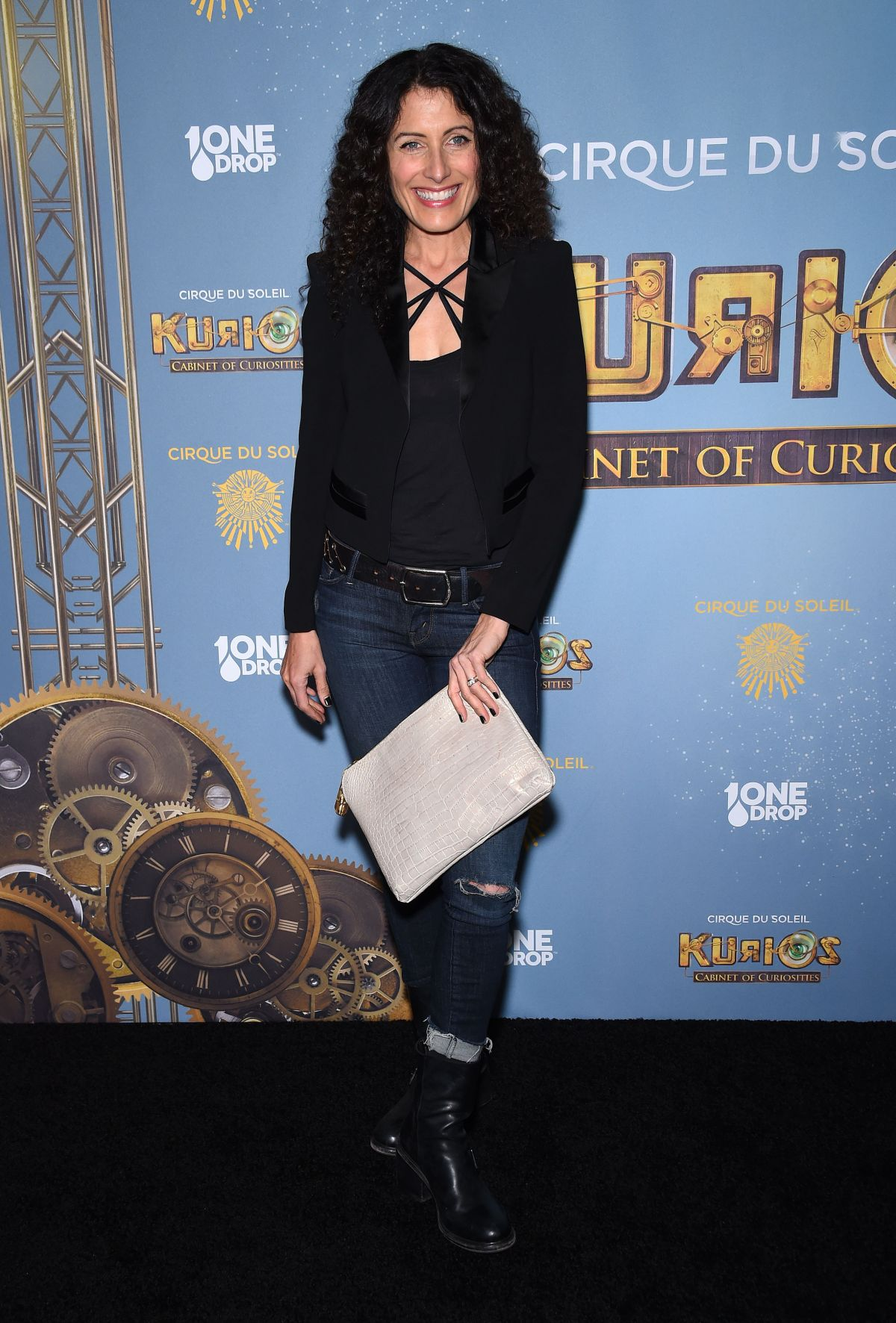 LISA EDELSTEIN at Cirque Du Soleil's Kurious-Cabinet of Curiosites Opening Night in Los Angeles 12/09/2015