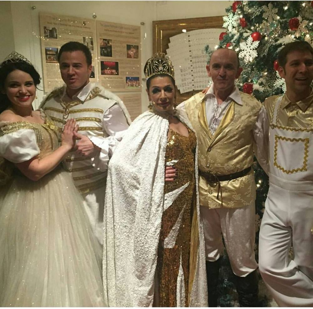 MARINA SIRTIS at a Snow White Christmas Backstage 12/03/2015