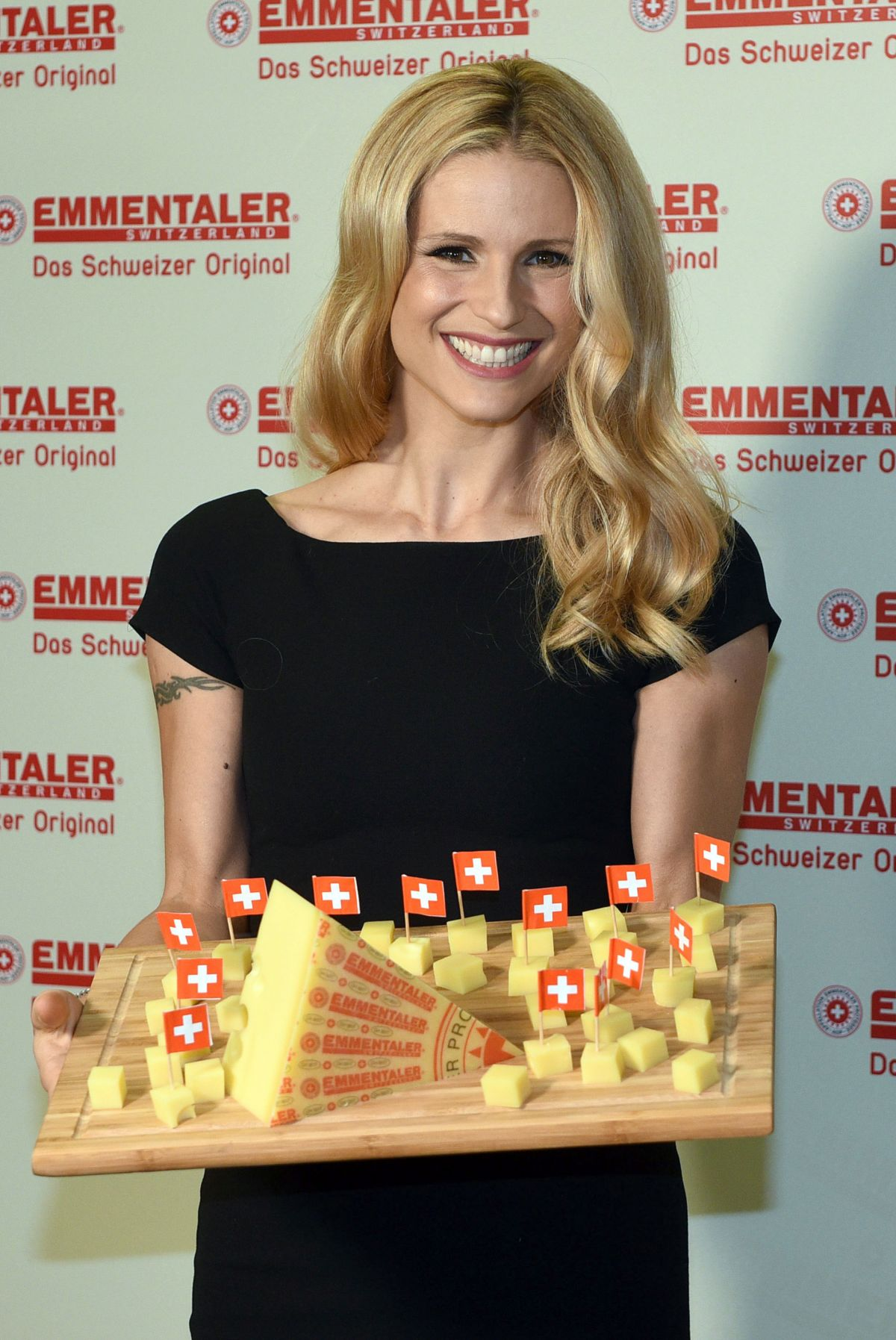 MICHELLE HUNZIKER at Schweizer Emmentaler Aop Ambassador Photocall in Cologne 12/09/2015