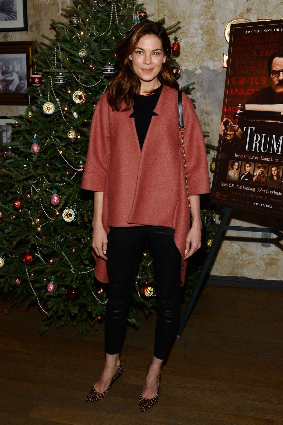 MICHELLE MONAGHAN at a Celebration for Bryan Cranston in New York 12/13/2015