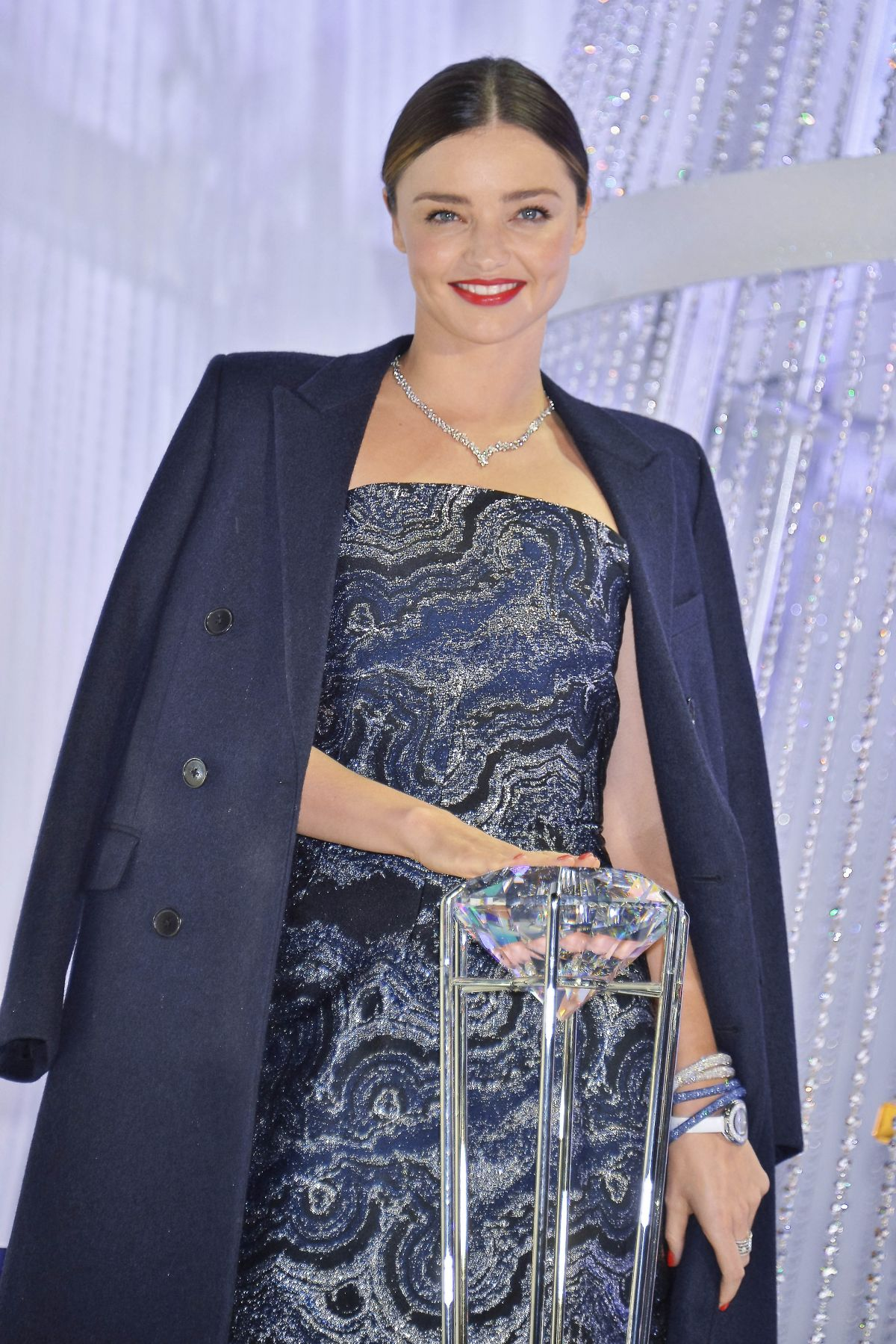 MIRANDA KERR at Swarovski Christmas Tree Lighting Ceremony in Tokyo 12/13/2015