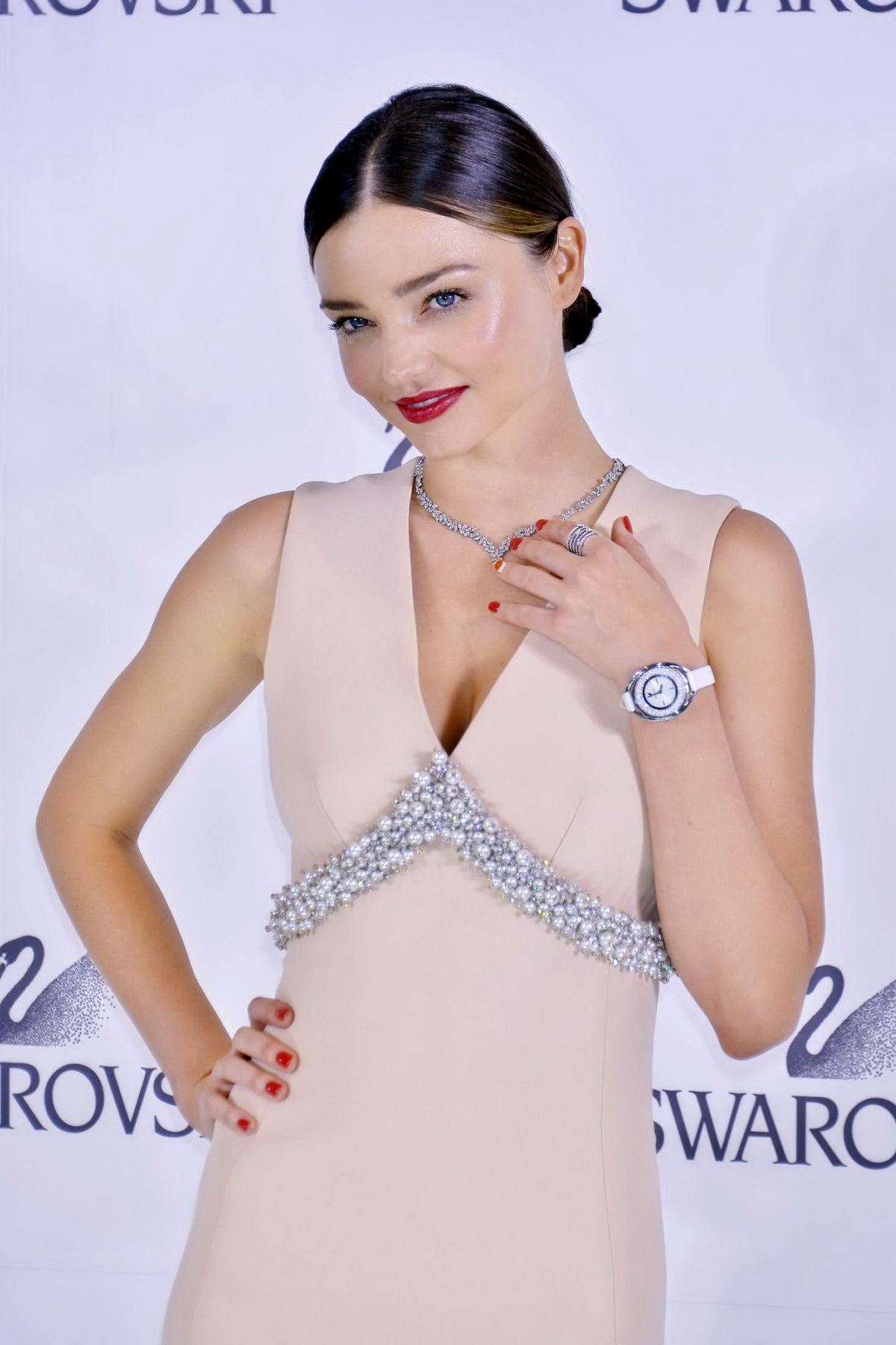 MIRANDA KERR at Swarovski Jewelry Press Conference in Tokyo 12/14/2015
