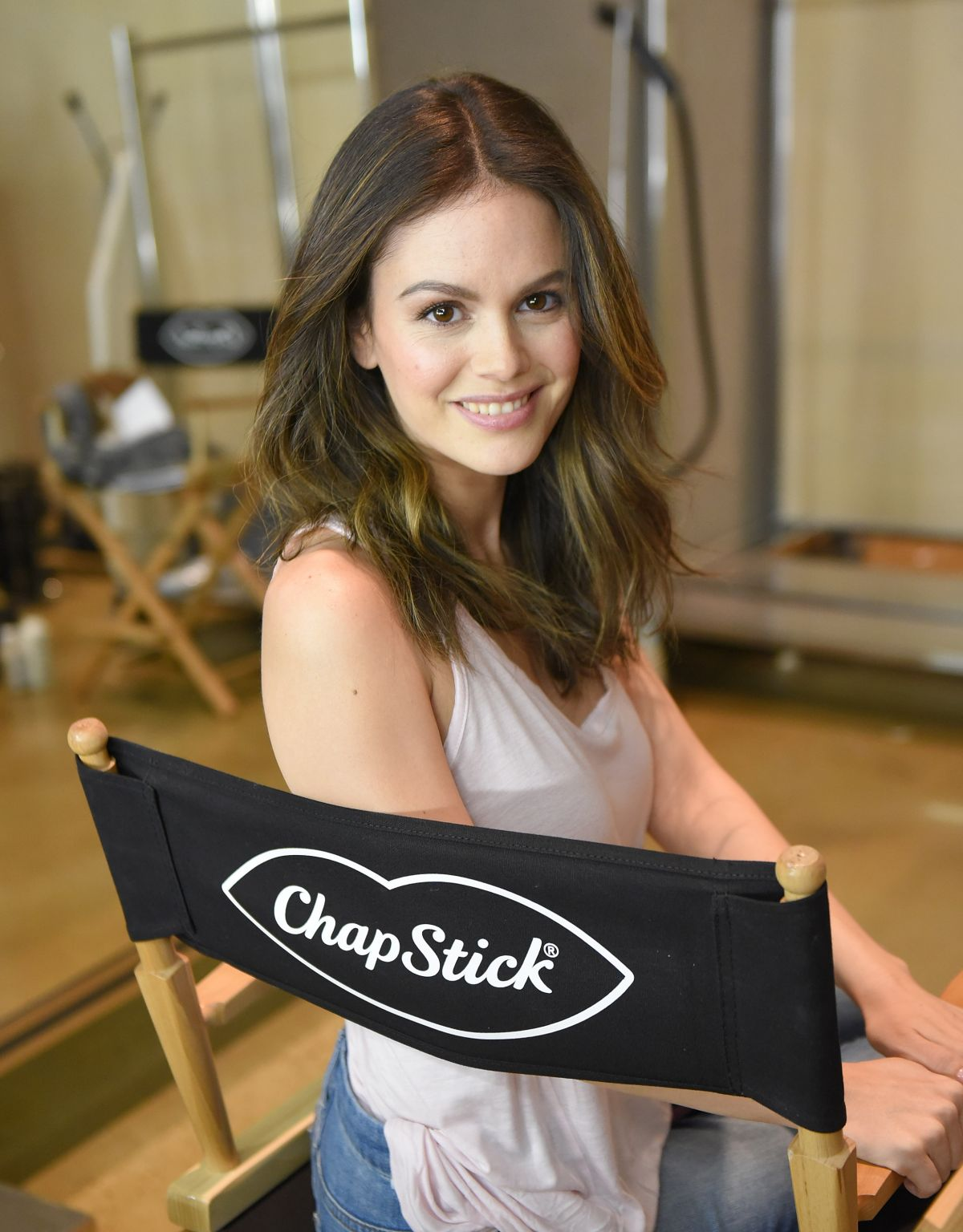 RACHEL BILSON on the Set of a Chapstick Photoshoot in Los Angeles 12/02/2015
