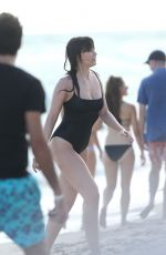 RITA ORA and DAISY LOWE in Swimsuits at a Beach in Miami 12/28/2015