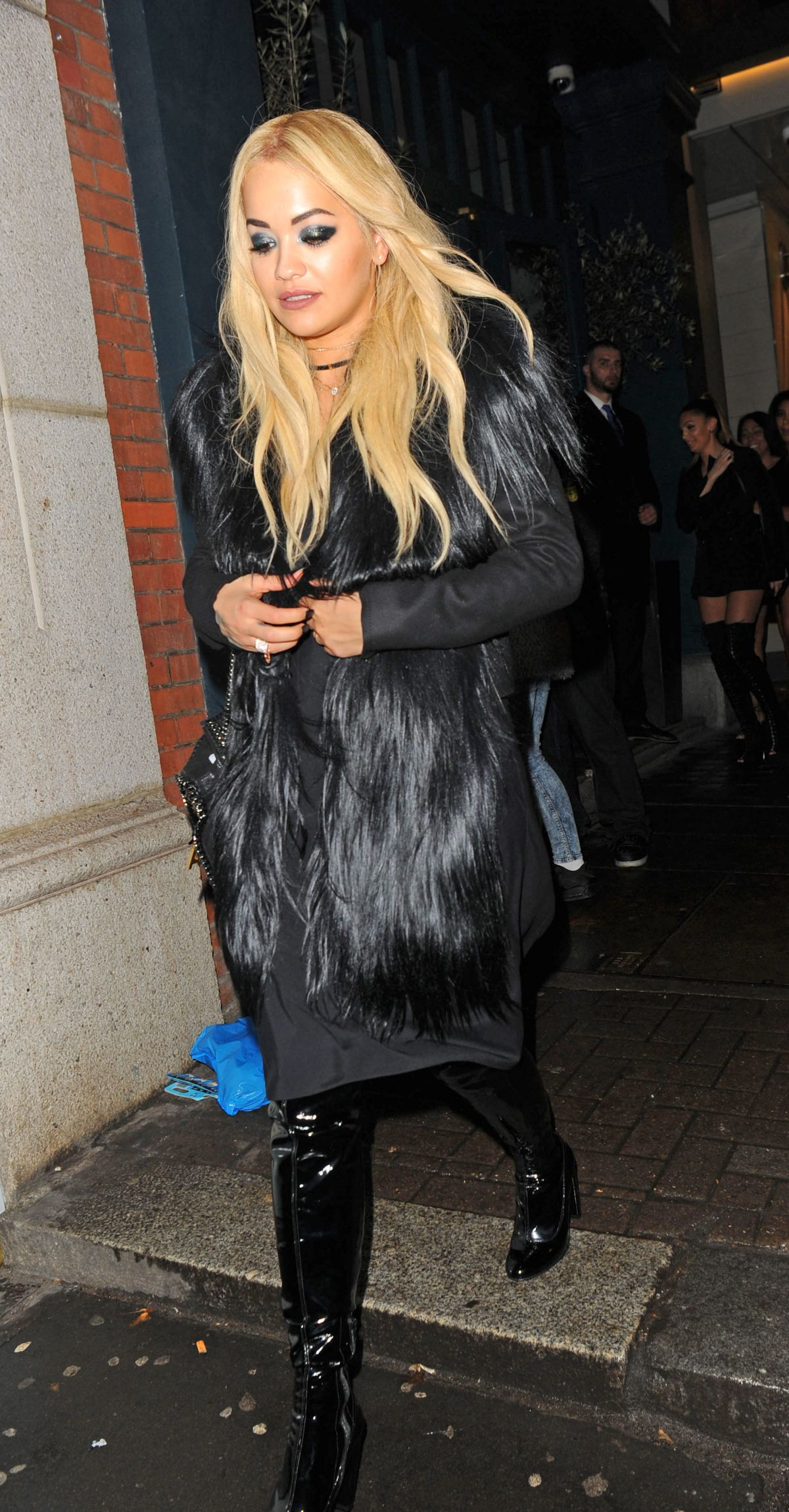 Rita Ora Leaves Vas J Morgan S Birthday Party In London 12