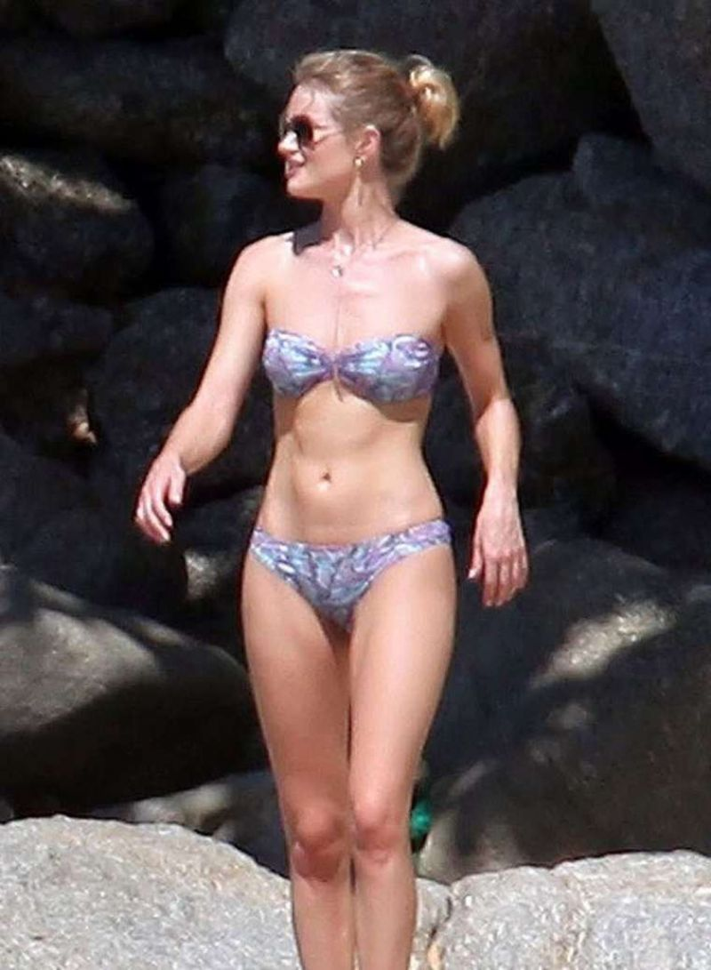 ROSIE HUNTINGTON-WHITELEY in Bikini at a Beach in Thailand 12/30/2015