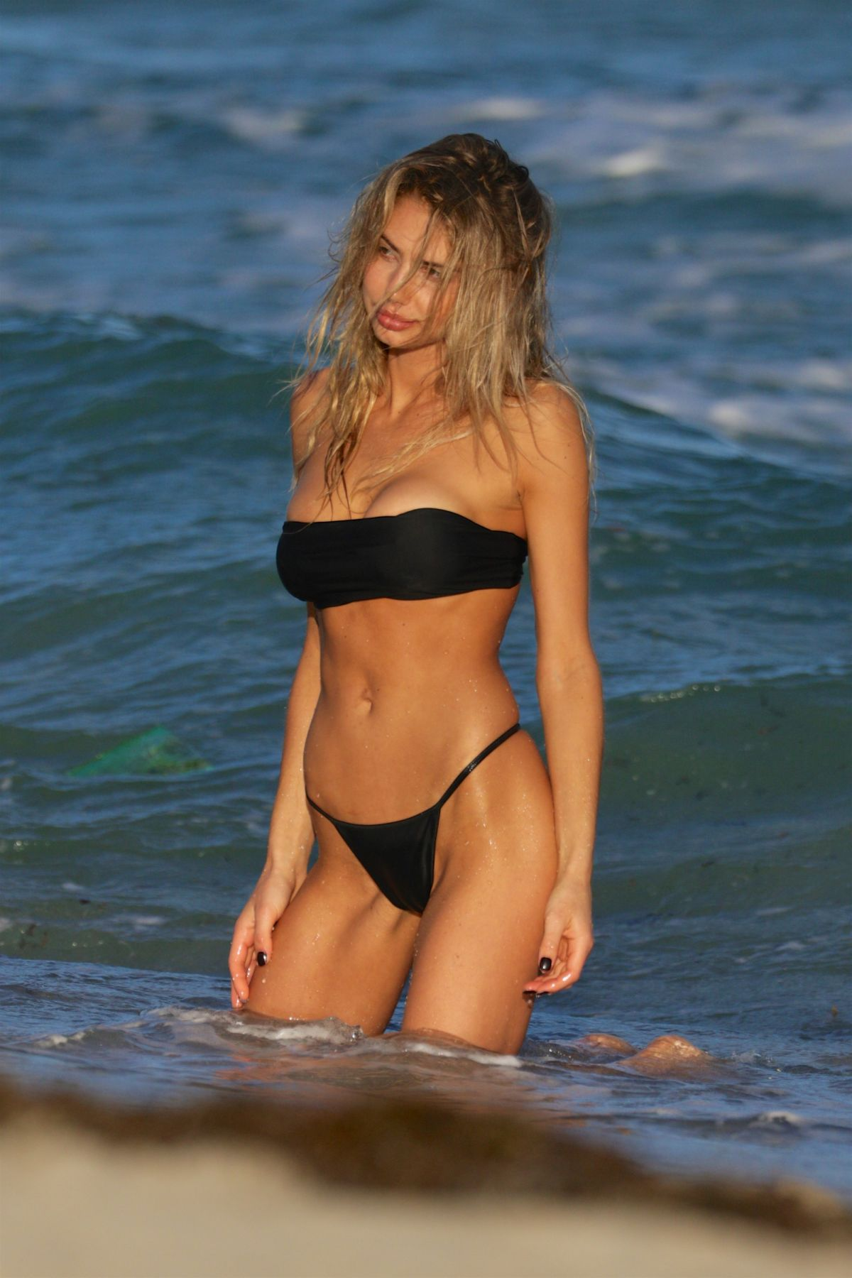 SAHARA RAY in Bbikini on the Seof of a Photoshoot in Miami Beach 12/01/2015