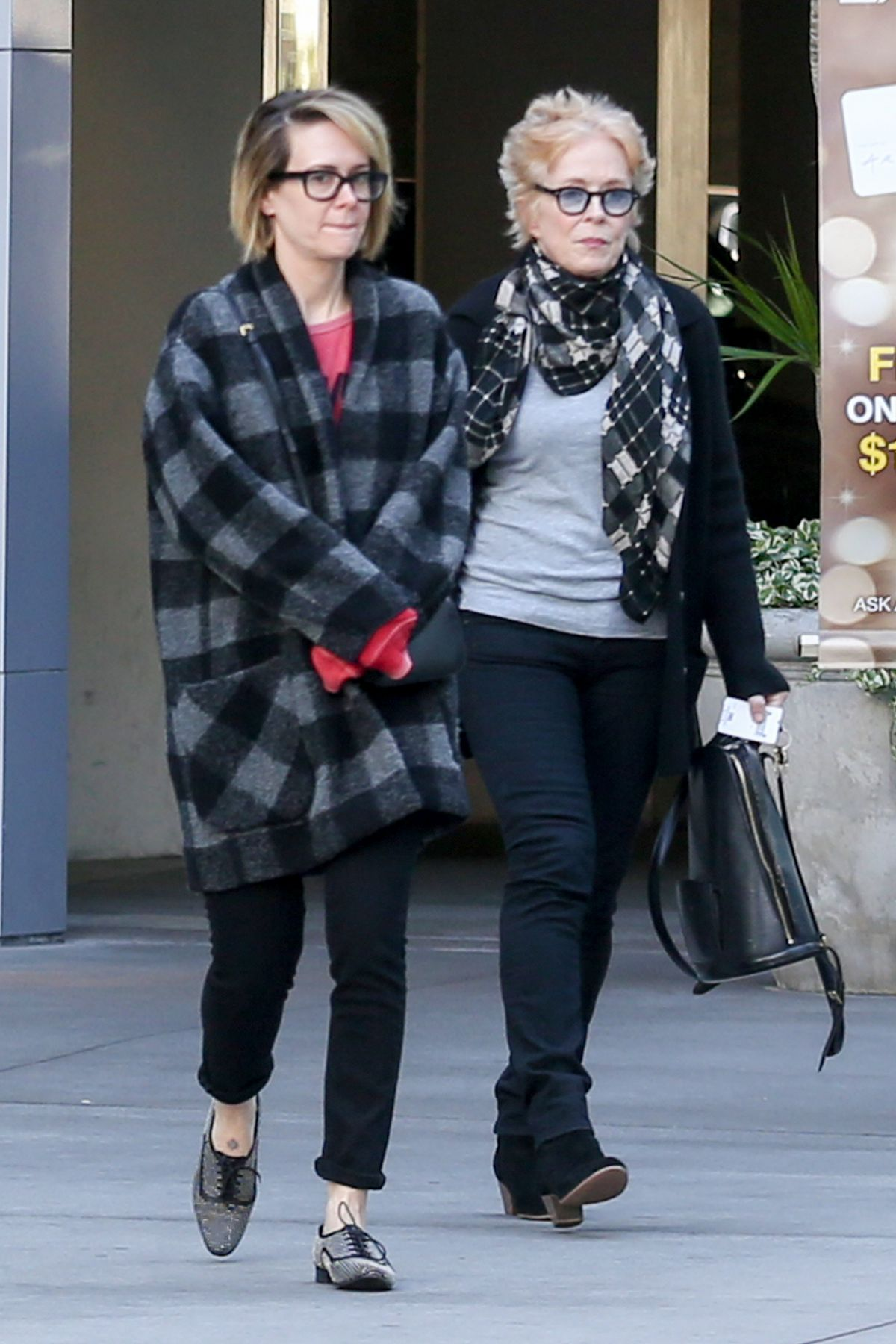 SARAH PAULSON and HOLLAND TAYLOR Leaves Arclight Theatre in Hollywood 12/20/2015