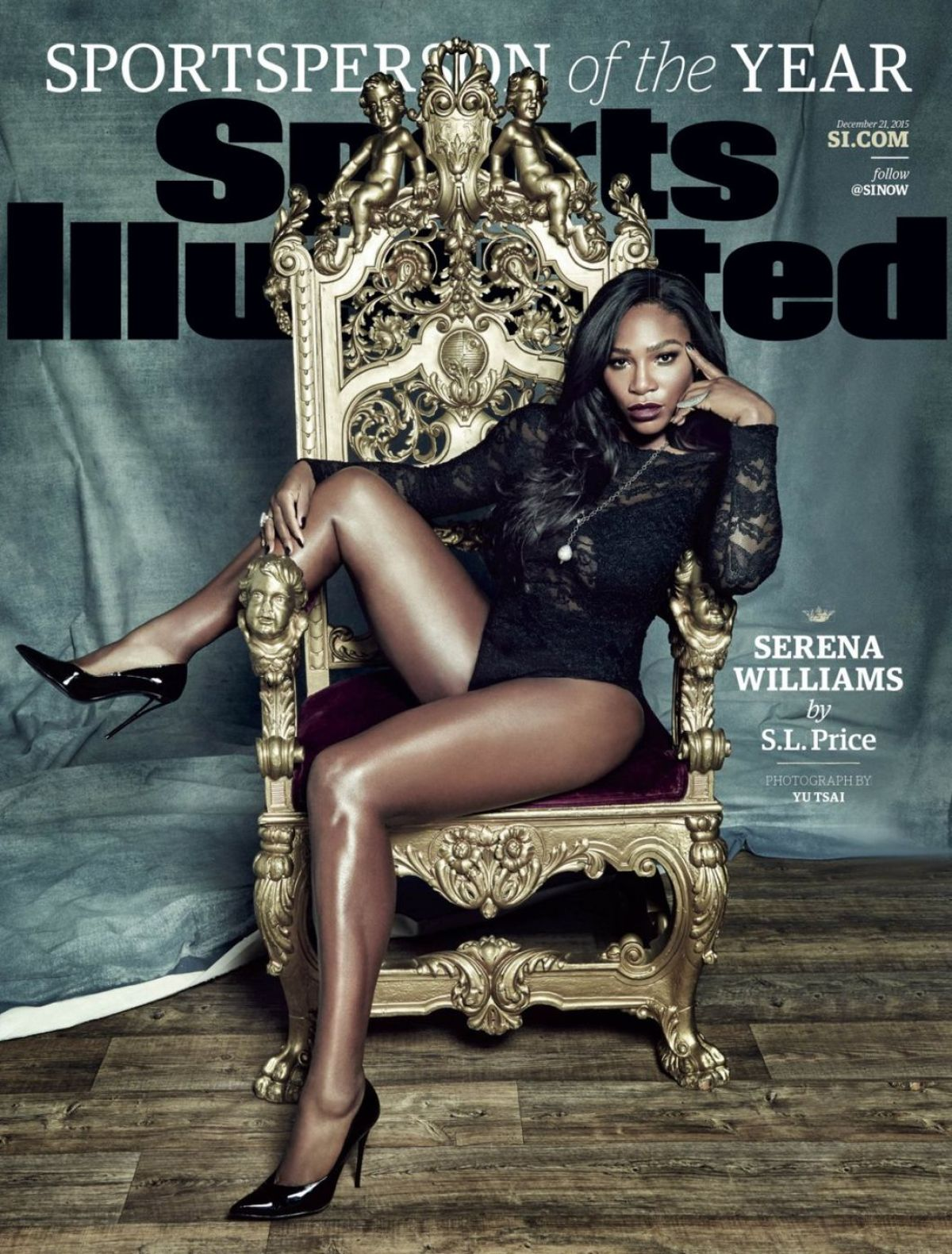 SERENA WILLIAMS on the Cover of Sports Illustrated Magazine, December 2015 Issue