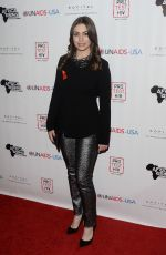 SOPHIE SIMMONS at Inaugural World Aids Day Benefit in Los Angeles 12/01/2015