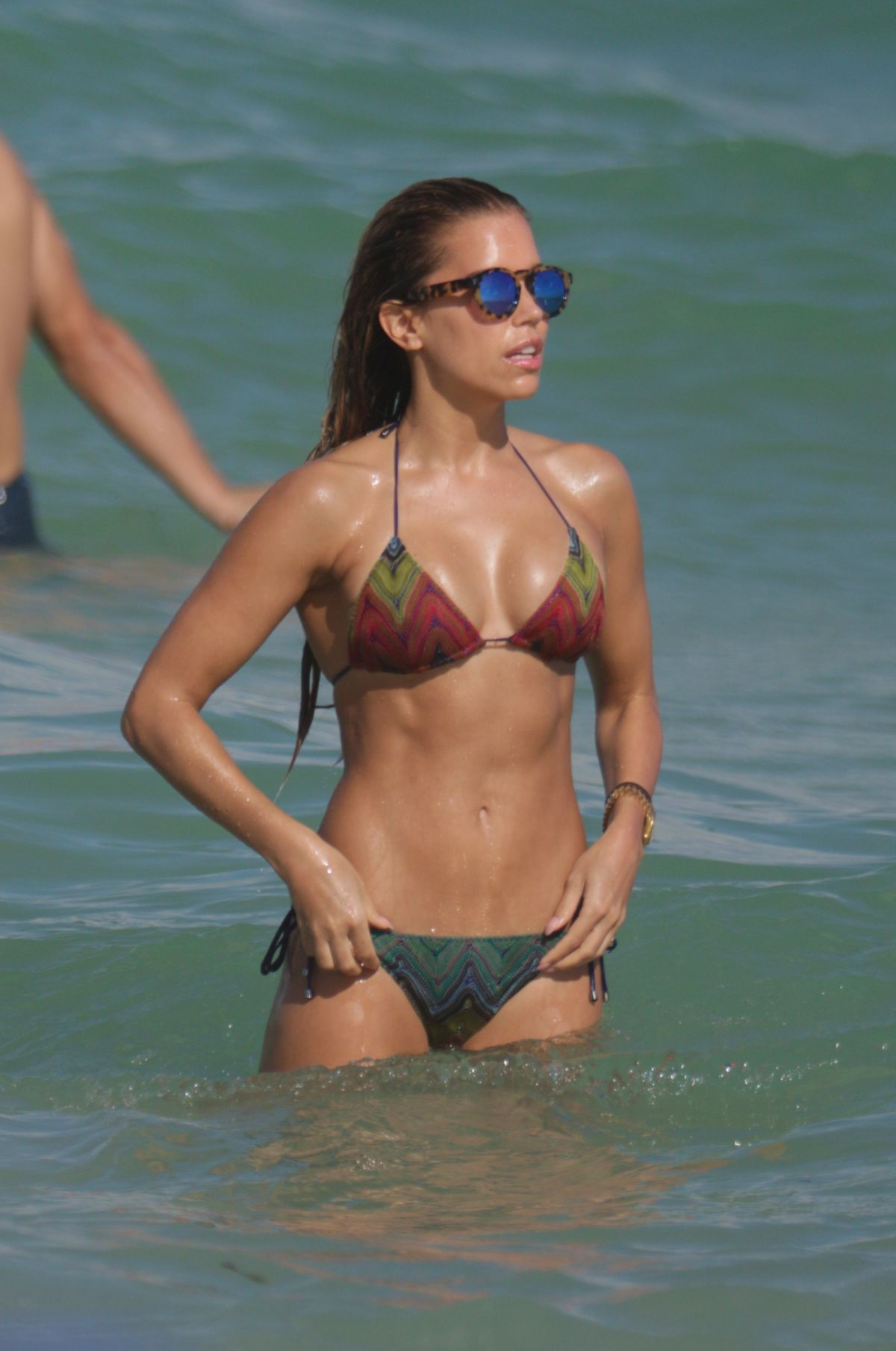 SYLVIE MEIS in Bikini at a Beach in Miami 12/29/2015