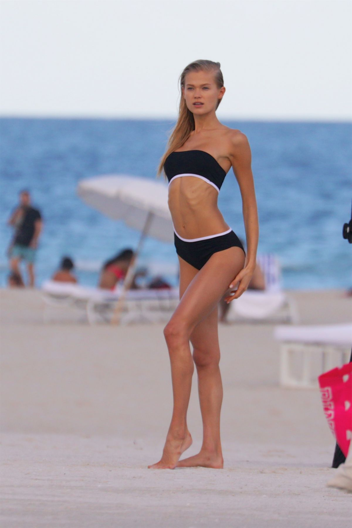 VITA SIDORKINA in Bikini on the Set of a Photoshoot at a Beach in Miami 12/17/2015