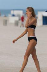 VITA SIDORKINA in Bikini on the Set of a Photoshoot at a Beach in Miami 12/17/2015