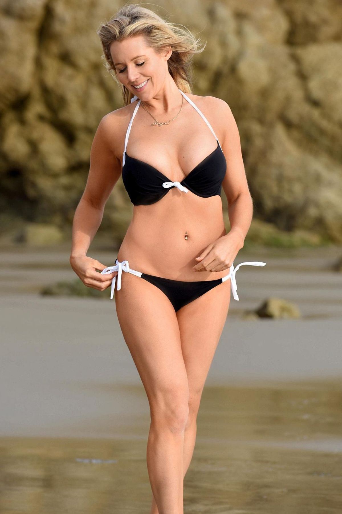 ABI TITMUSS in Bikini on the Beach in Malibu 01/01/2016