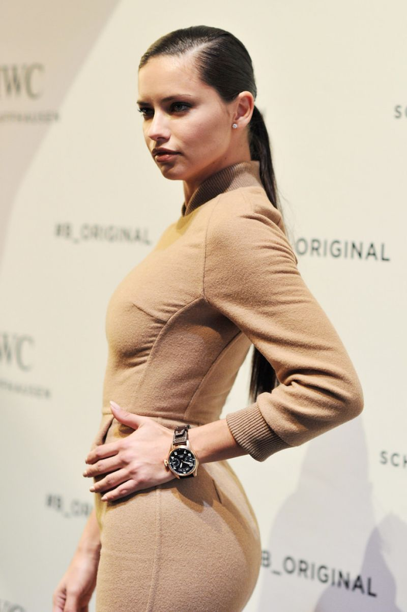 ADRIANA LIMA at IWC Schaffhausen at SIHH 2016 in Geneva 01/19/2016