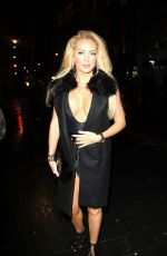 AISLEYNE HORGAN WALLACE Night Out in London 01/09/2016