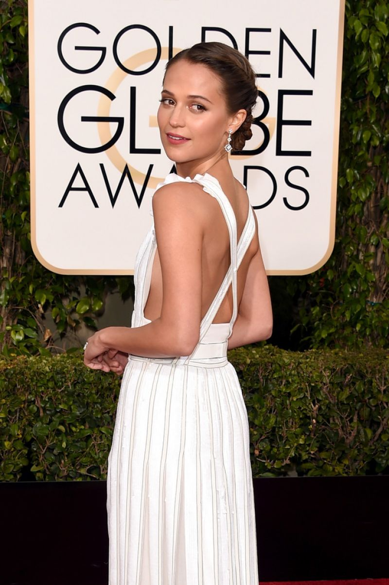 ALICIA VIKANDER at 73rd Annual Golden Globe Awards in Beverly Hills 10/01/2016